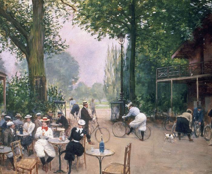 Le Chalet du cycle au bois de Boulogne, Jean Béraud