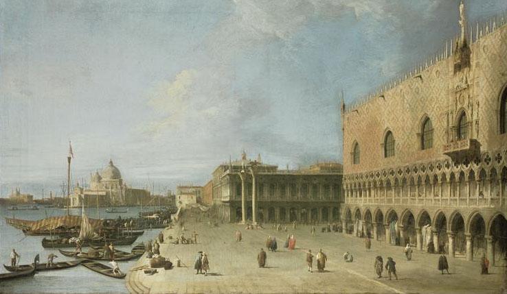 Le Môle devant le palais des Doges à Venise, Antonio Canaletto, (C) BPK, Berlin, Dist. RMN-Grand Palais / Jörg P. Anders