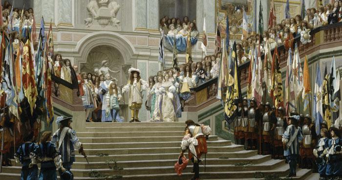 L'Accueil du Grand Condé à Versailles par Louis XIV, Jean-Léon Gérôme