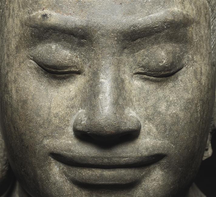 Portrait du roi Jayavarman VII, Musée Guimet - Musée national des Arts asiatiques