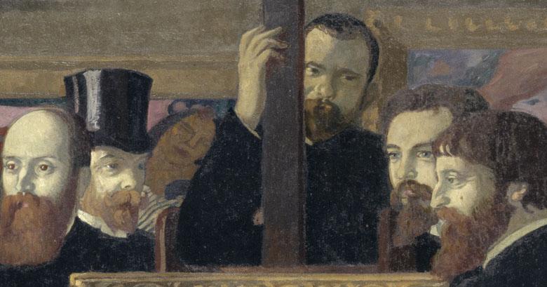 Hommage à Cézanne (Détail d'Ambroise Vollard, Maurice Denis, Paul Sérusier), Maurice Denis