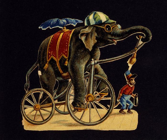 Eléphant savant sur un tricycle, Bibliothèque nationale de France