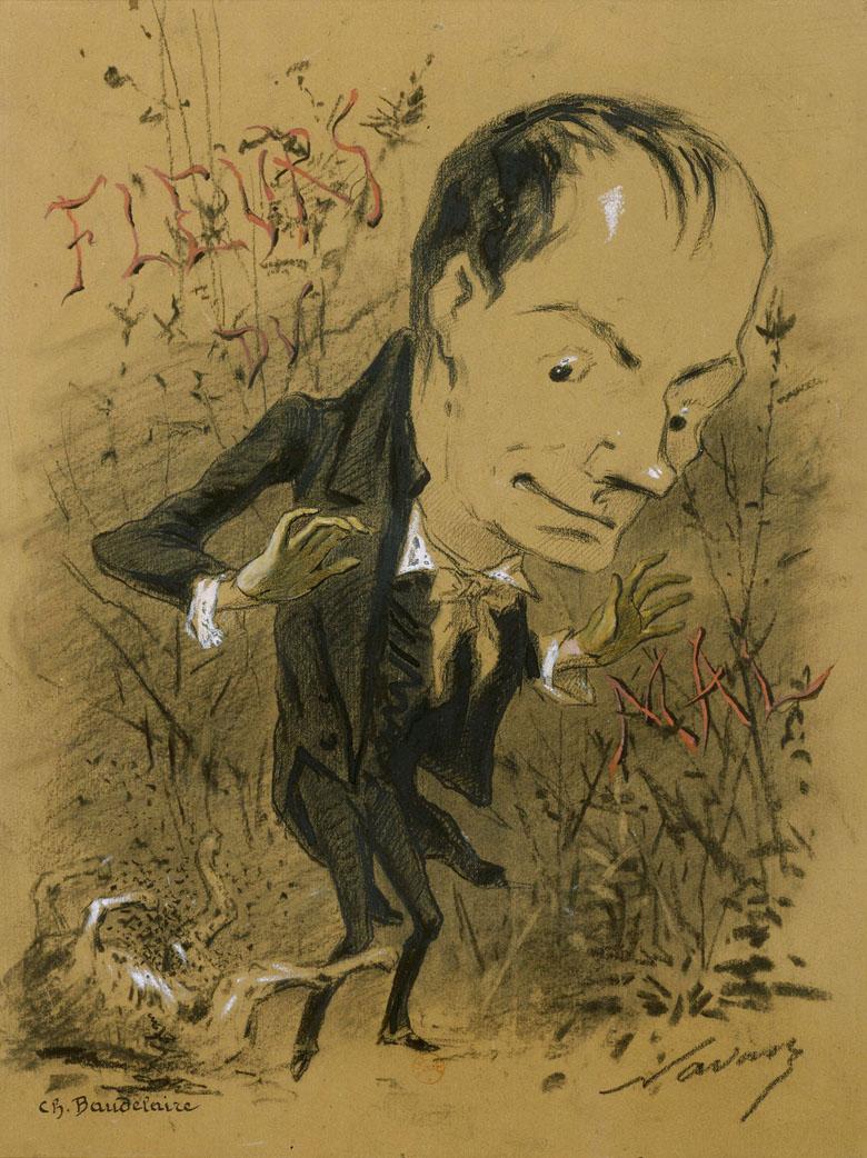 """Charles Baudelaire découvrant une charogne dans la végétation des \""""Fleurs du mal\"""", Félix Nadar, Bnf"""