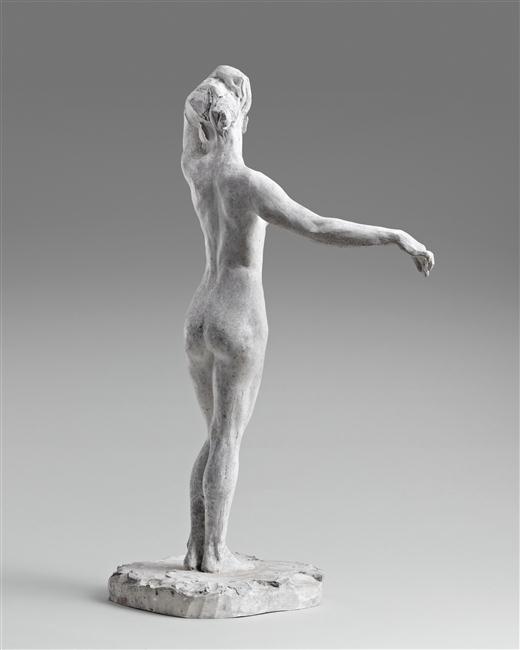 Jeune femme nue debout, le bras gauche posé sur la tête - Bugatti Rembrandt