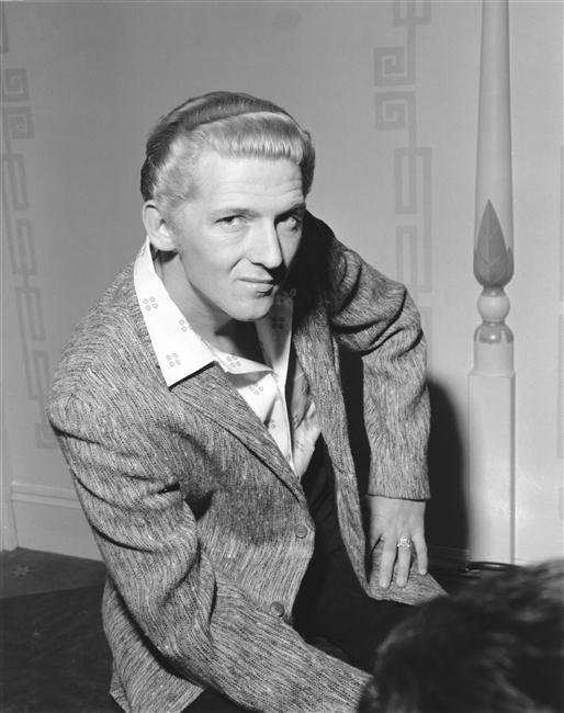 Jerry Lee Lewis (b.1935), chanteur et pianiste au Fairfield Hall Croydon