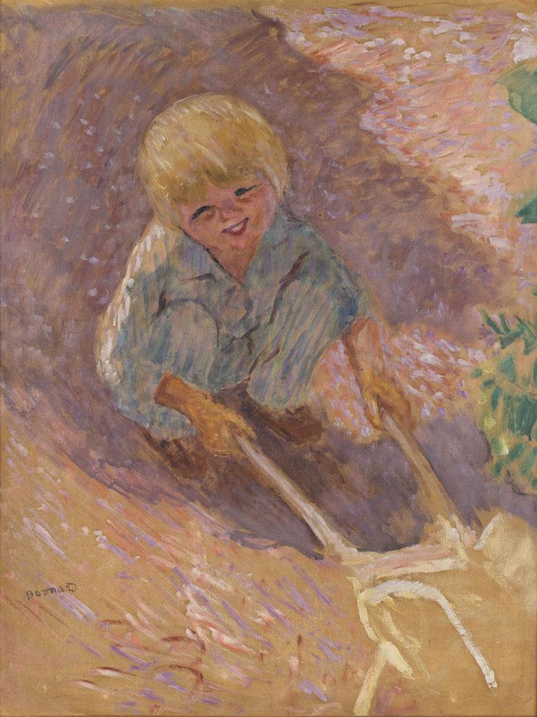L'Enfant à la brouette, étude, Pierre Bonnard, musée d'Orsay