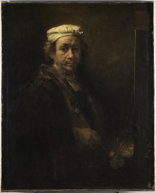 Portrait de l'artiste au chevalet