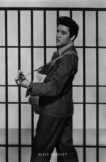 """Elvis Presley dans le film \""""Jailhouse Rock\"""", Etats-Unis, 1957"""
