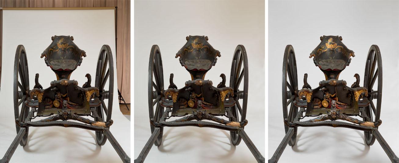 Cabriolet / Sjees (XVIIIème siècle), Compigène Musée de la voiture, Photos (C) RMN-Grand Palais (domaine de Compiègne) / Tony Querre