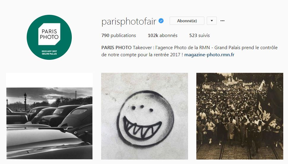 bio Instagram Take over Paris photo