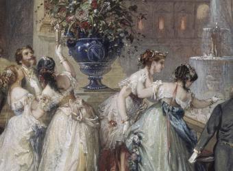 Fête officielle au palais des Tuileries pendant l' Exposition Universelle de 1867, Henri Charles Antoine Baron, Château de Compiègne