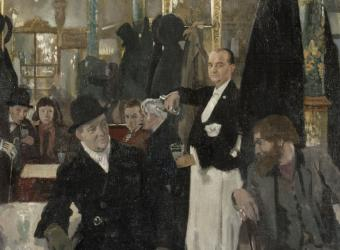 Le Café Royal à Londres, William Orpen, Paris, musée d'Orsay