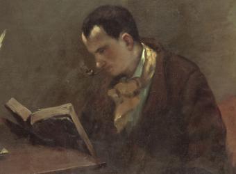 Portrait de Baudelaire, Gustave Courbet, musée Fabre à Montpellier