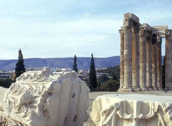 Vue de l'Olympéion et le temple de Zeus (Athènes), Italie, Florence, Fratelli Alinari