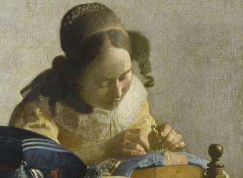 The Lacemaker; Johannes Vermeer, Musée du Louvre