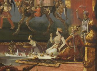 Fantaisie moghole : l'empereur Shah Jahan et ses quatre fils