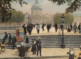 Paris VI le pont des arts et l'Institut