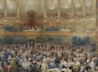 Visite de la reine Victoria à Paris en 1855, Eugène Lami Eugène, Châteaux de Versailles et de Trianon