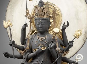 Le bodhisattva Mahâpratisara à huit bras