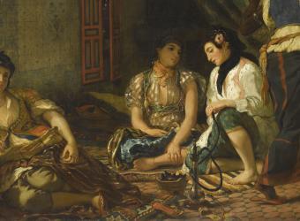 Détail des Femmes d'Alger dans leur appartement d'Eugène Delacroix