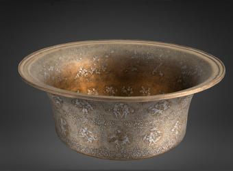 Modèle 3D du bassin au nom du sultan al-'Adil II conservé au musée du Louvre