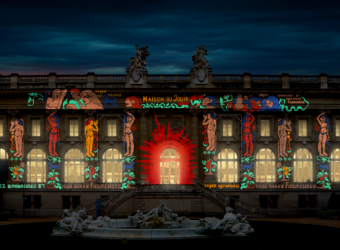 Nos images illuminent la façade du Grand Palais