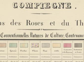 La numérisation de l'Atlas des Parcs et Jardins du Palais de Compiègne