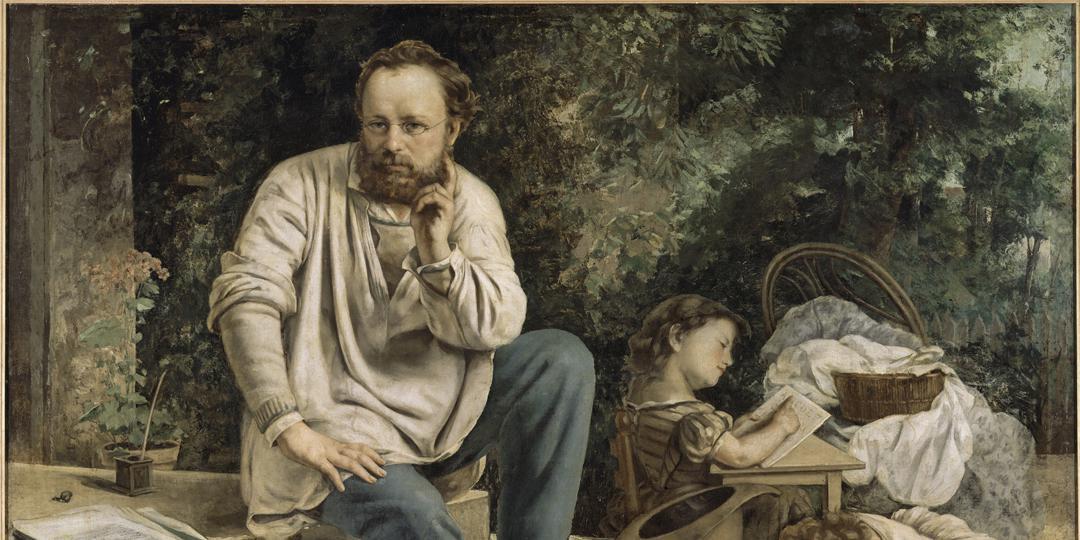 Pierre-Joseph Proudhon et ses enfants en 1853 (détail), Gustave Courbet, Petit Palais, musée des Beaux-Arts de la Ville de Paris