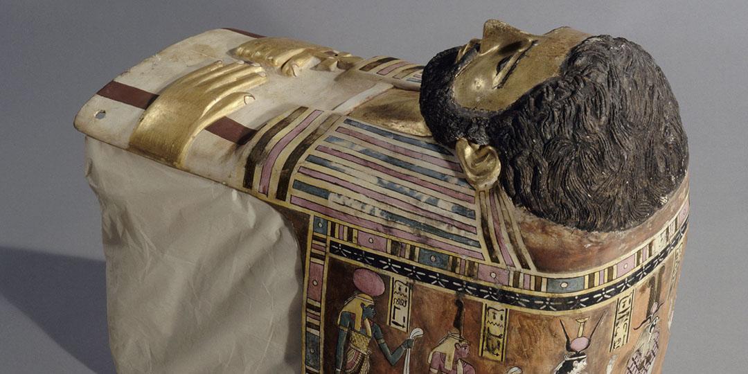 Enveloppe de momie : portrait d'homme divinisé en Ré-Osiris, Paris, musée du Louvre