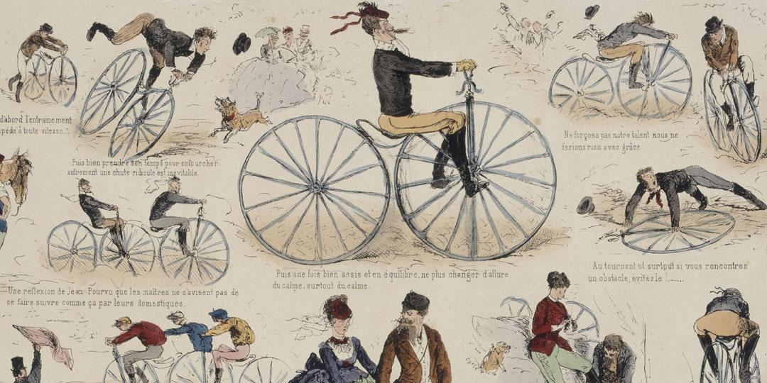 La vélocipédomanie, Alfred Darjou, Compiègne, musée de la voiture