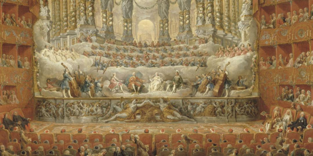 Fête musicale donnée par le cardinal de la Rochefoucauld, Giovanni Paolo Pannini, musée du Louvre