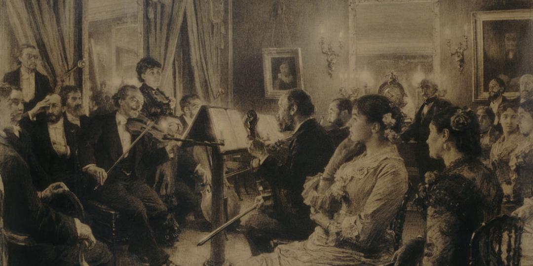 Une soirée musicale chez Amaury-Duval, Léon Lhermitte, Paris, musée d'Orsay, conservé au musée du Louvre