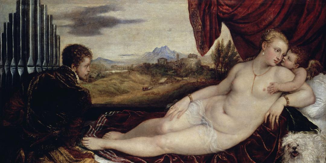Vénus au joueur d'orgue, Titien, Berlin, Gemäldegalerie (SMPK)