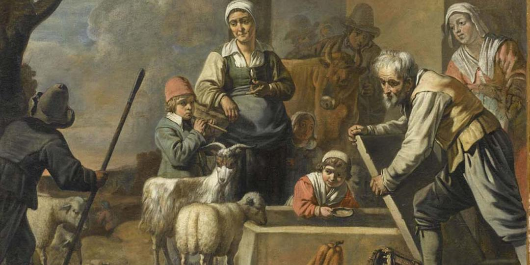 L'Abreuvoir, Maître aux Béguins (milieu 17e siècle). Musée du Louvre