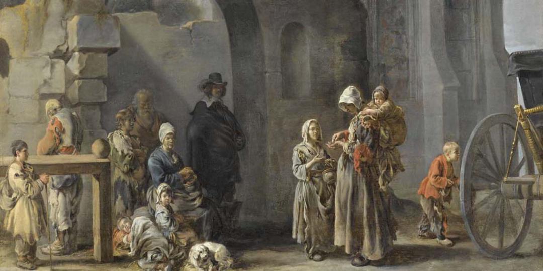 Les Mendiants, Sébastien Bourdon, musée du Louvre