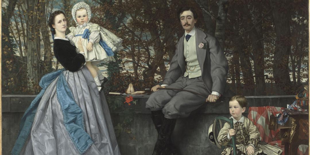 Portrait du marquis et de la marquise de Miramon et de leurs enfants (détail), Jacques Joseph (dit James) Tissot, Musée d'Orsay