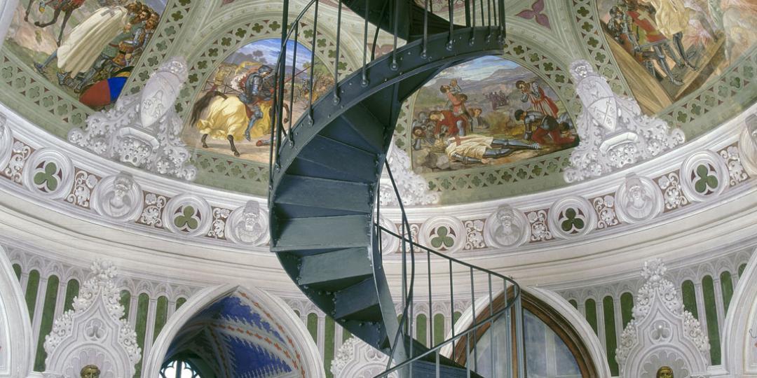 Episodes des Croisés, donjon du palais Ducal, Gerolamo Varni, Italie, Corigliano Calabro, château ducal