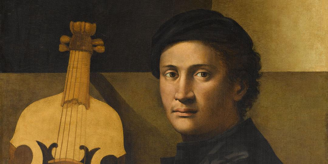 Portrait of a viola player, Zacchia Paolo (?-after 1561)
