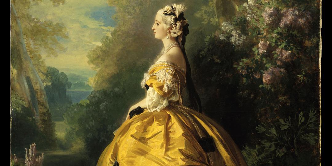 L'impératrice Eugénie en Marie-Antoinette (détail), Franz Xaver Winterhalter, The Metropolitan Museum of Art, New-York