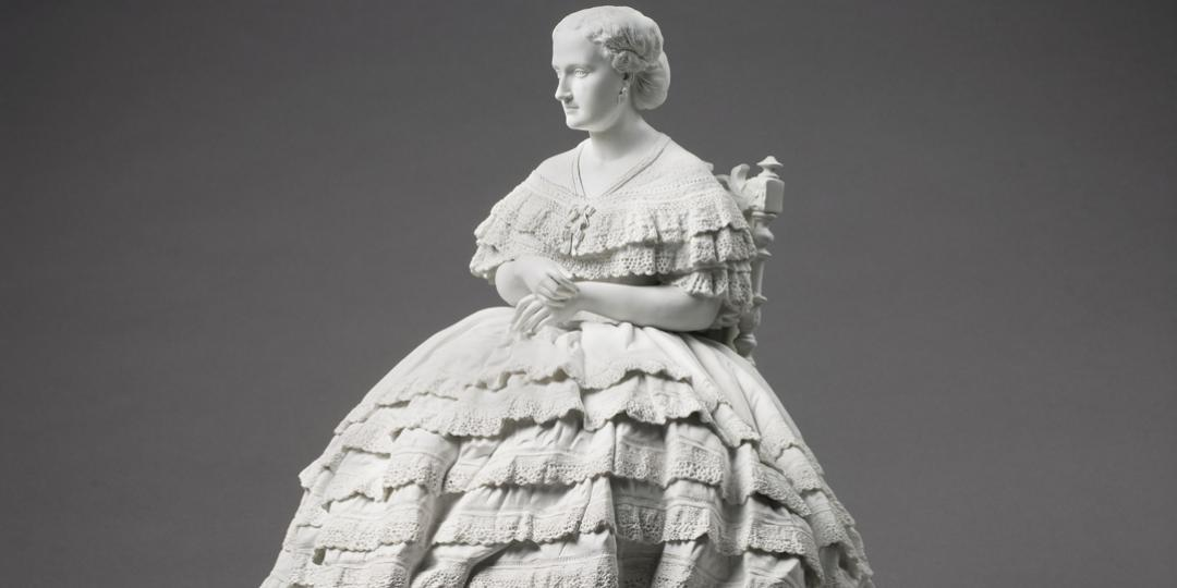 La Dame à la crinoline (détail), Château de Compiègne