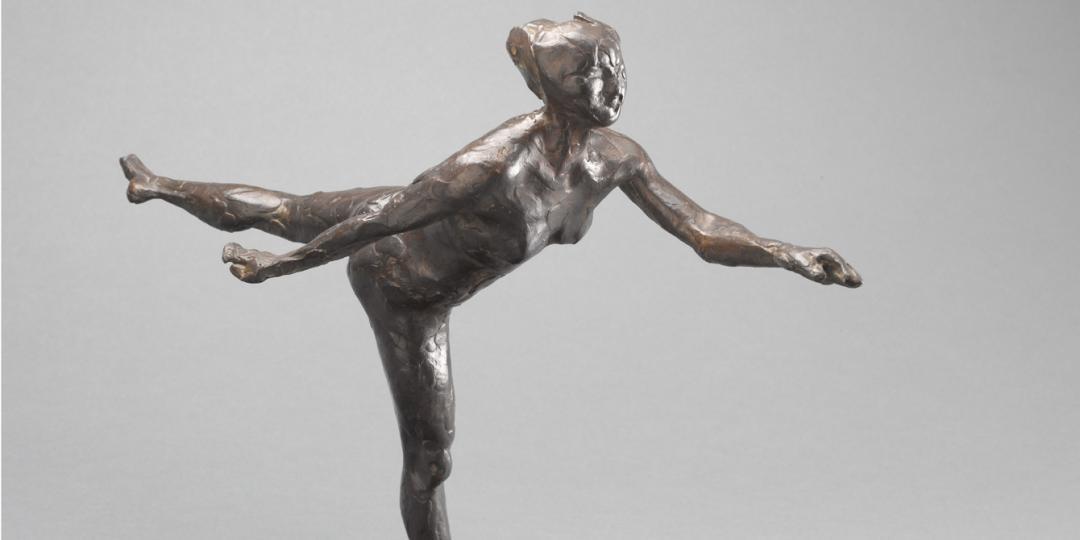 Danseuse, arabesque ouverte sur la jambe droite, bras gauche en avant, deuxième étude - Edgar Degas, Paris, musée d'Orsay
