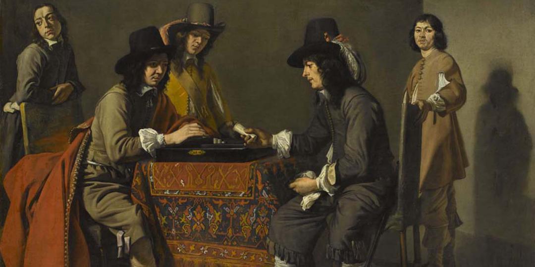 Les Joueurs de trictrac, Mathieu Le Nain. Musée du Louvre