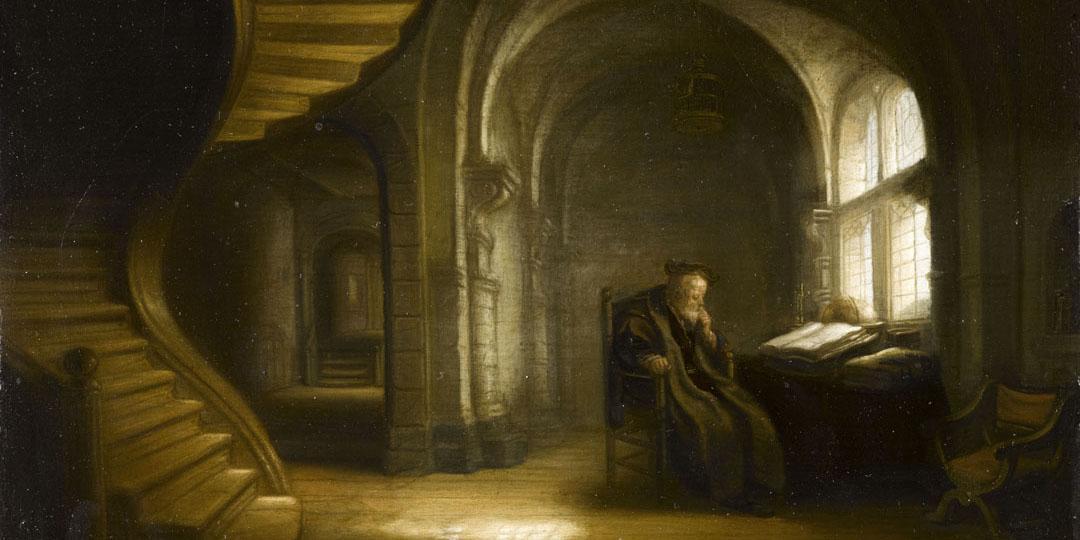 Philosophe au livre ouvert, attribué à Salomon Koninck, Paris, musée du Louvre