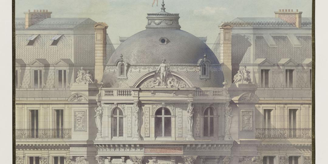 Théâtre du Vaudeville (Paris) : élévation de la rotonde, Auguste-Joseph Magne, Musée d'Orsay