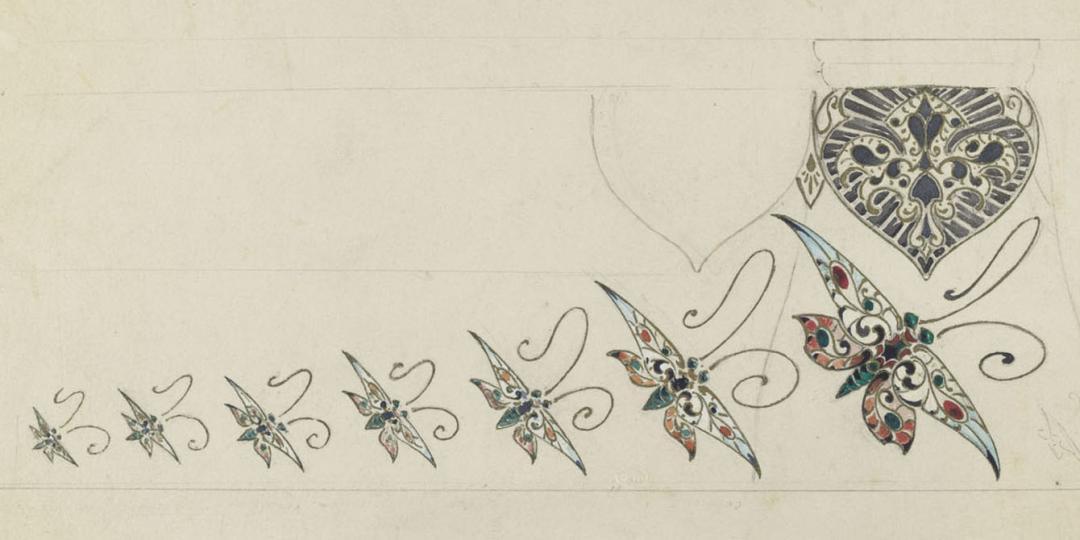 Modèle de vase en céramique ou en verre, atelier d'Emile Gallé, Paris, musée d'Orsay