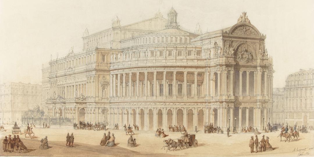 Nouvel Opéra : vue perspective, Alphonse-Nicolas Crepinet, musée d'Orsay