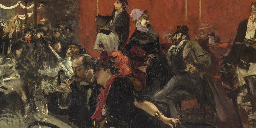 Scène de fête au Moulin Rouge, Giovanni Boldoni, Vers 1889