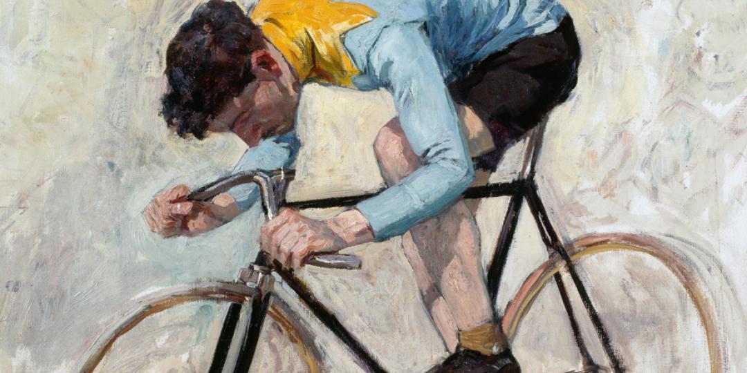 Lucien-Hector Jonas (1880-1947) : Cycliste Jacquelin, conservé à La Piscine, musée d'Art et d'Industrie André Diligent