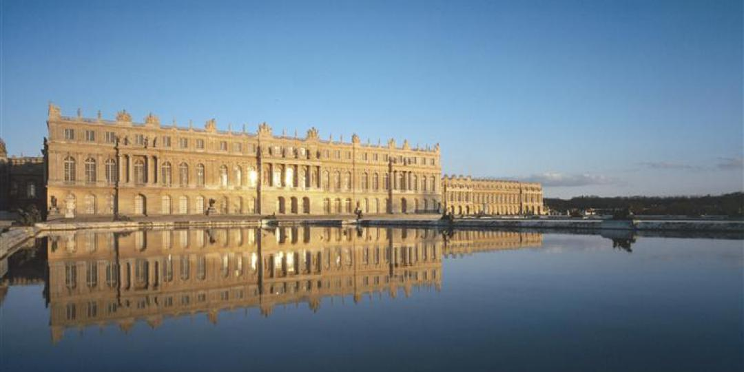 The Palace of Versailles, on the park-side, view of the Water Parterre by Jean-Baptiste Leroux