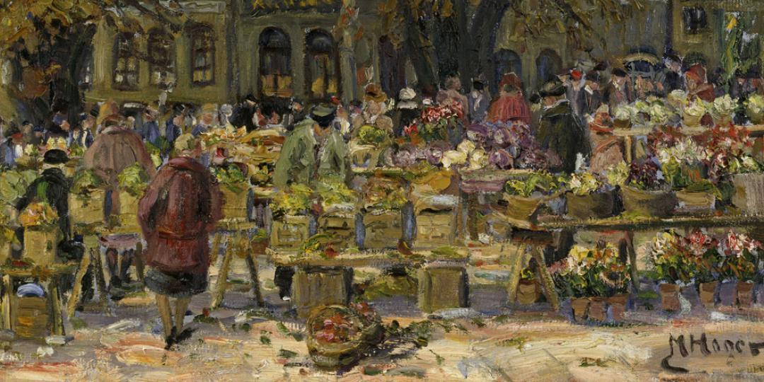 Marie Hager (1872-1947) : Marché à Wismar [Wismar market], held at Schwerin